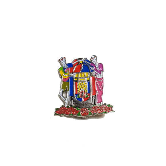 Grateful Dead Jukebox Skeletons Pin