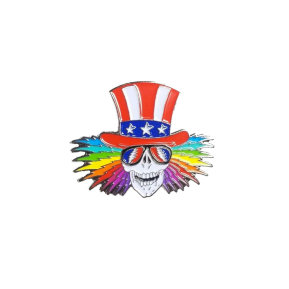 Grateful Dead Rainbow Uncle Sam Pin