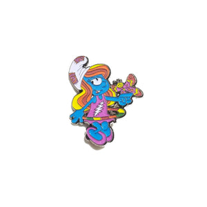 Grateful Dead Hula Hooping Smurf Pin