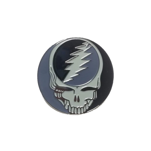 Grateful Dead Steal Your Face Black and Grey Pin