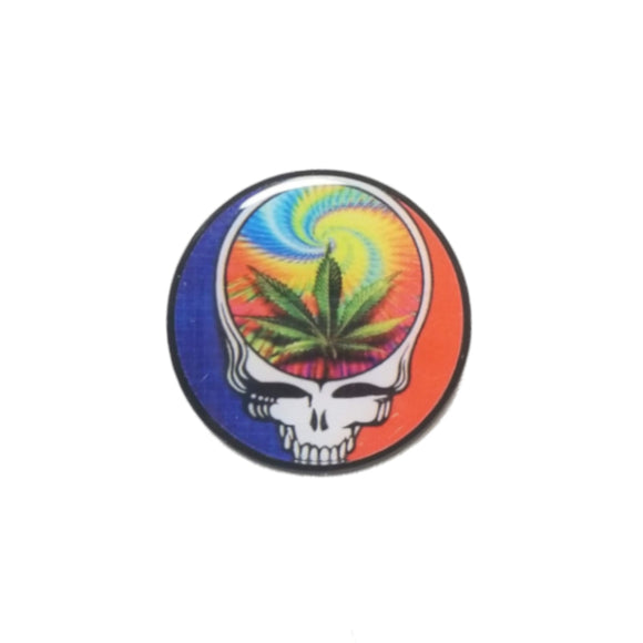 Grateful Dead Steal Your Face Marijuana Leaf Pin