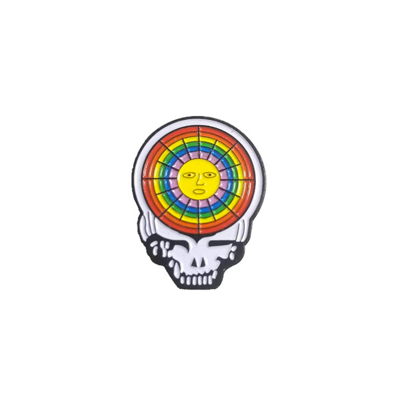 Grateful Dead Steal Your Face Sun Pin