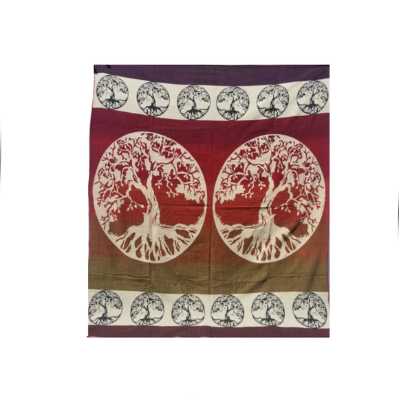 Tree Of Life Blanket-Red
