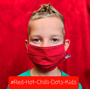 Kindermaske #Red-Hot-Chilli-Dots-Kids
