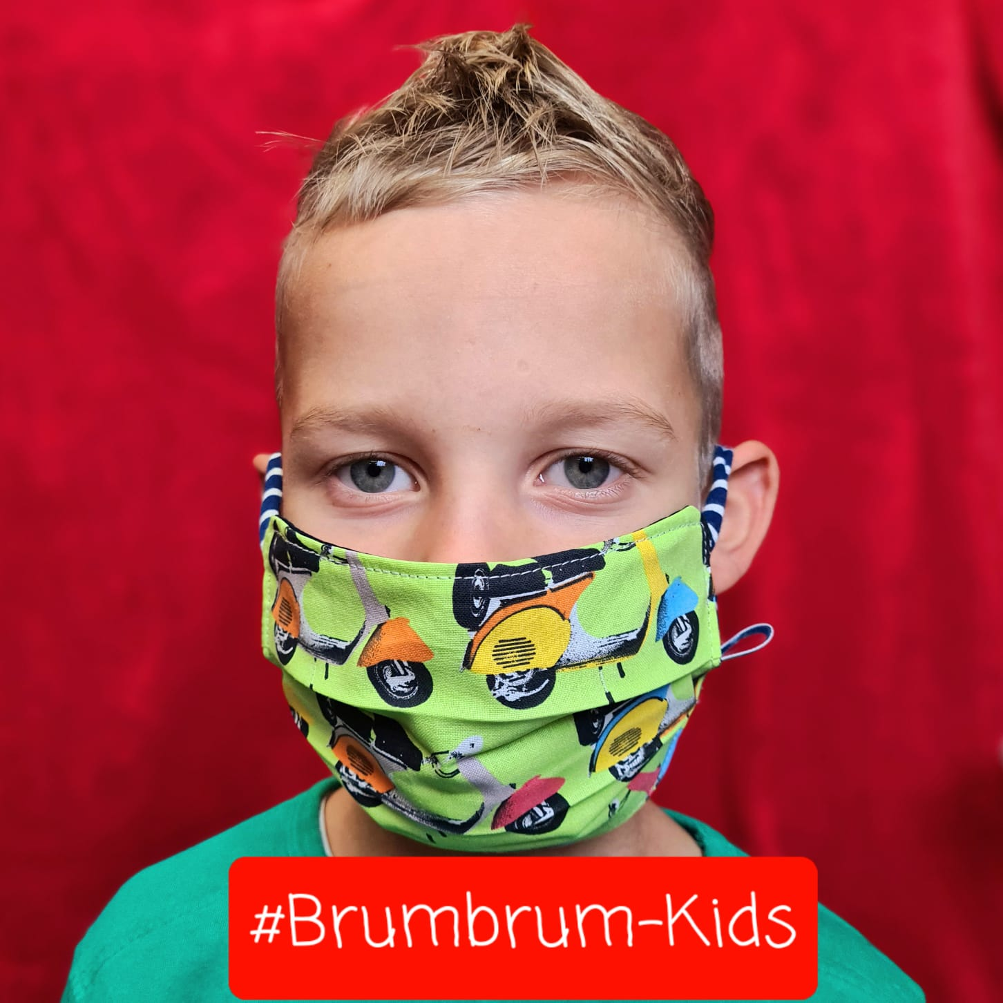 Kindermaske #Brumbrum-Kids