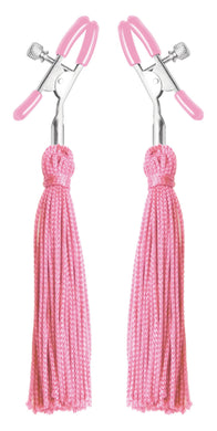 Tickle Me Pink Nipple Clamp Tassels FR-AE124