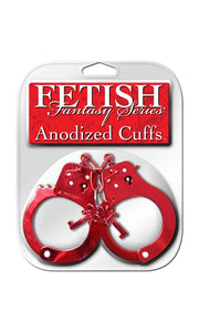 Fetish Fantasy Anodized Cuffs Red PD3816-15