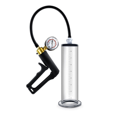 Performance - Vx7 Vacuum Penis Pump With Brass  Trigger & Pressure Gauge - Clear BL-06401