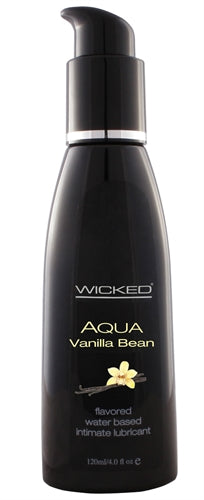 Aqua Vanilla Bean Water-Based Lubricant - 4 Oz. WS-90334