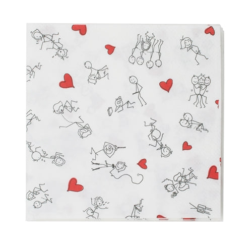 Stick Figure Style Napkins - 8 Pack CP-3658