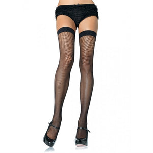 Fishnet Thigh High - One Size - Black LA-9011BLK