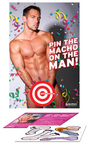Bachelorette Party Favors Pin the Macho on the Man PD8204-00