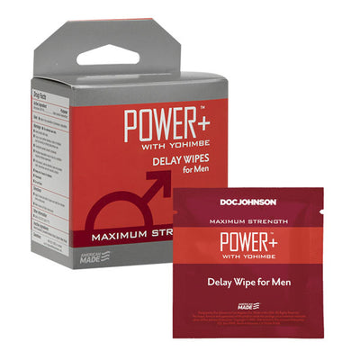 Power Plus With Yohimbe - Delay Wipes for Men - 10 Pack DJ1311-25-BX