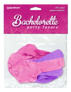 Bachelorette Party Favors - X-Rated Pecker Balloons - Pink and Purple PD6126-00