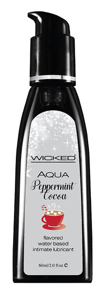 Aqua Peppermint Cocoa Flavored Water Based Lubricant - 2 Oz.