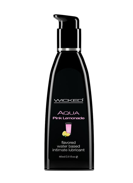 Aqua Pink Lemonade Flavored Water Based  Lubricant - 2 Oz. / 60 ml