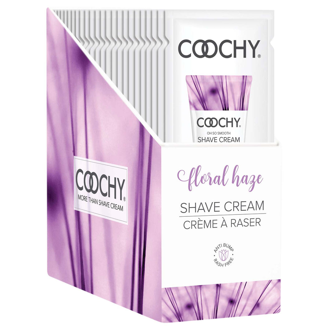 Coochy Shave Cream - Floral Haze - 15 ml Foils 24 Count Display COO1004-99D