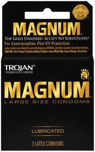 Trojan Magnum Large Size Lubricated - 3 Pack TJ64203