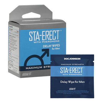 Sta-Erect With Pheromone - Delay Wipes for Men -  10 Pack DJ1312-25-BX