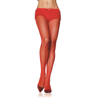 Fishnet Pantyhose - One Size - Red LA-9001RED