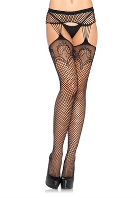 Garterbelt Stockings - One Size - Black LA-1063