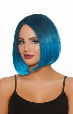 Dreamgirl Mid-Length Steel Blue/bright Blue Ombre Wig DG-11323