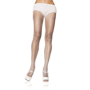 Fishnet Pantyhose - One Size - White LA-9001WHT