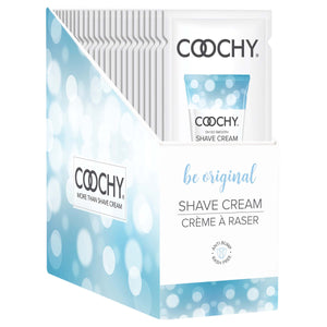 Coochy Shave Cream - Be Original - 15 ml Foils 24 Count Display COO1002-99D