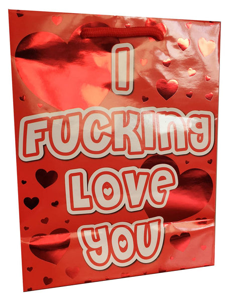 I Fucking Love You - Red Foil Gift Bag