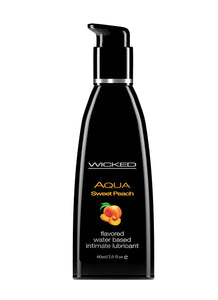 Aqua Sweet Peach Flavored Water Based Lubricant -  2 Oz. / 60 ml WS-90382