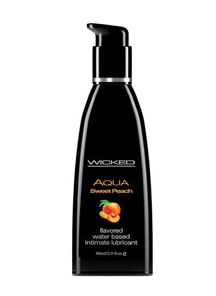 Aqua Sweet Peach Flavored Water Based Lubricant -  2 Oz. / 60 ml