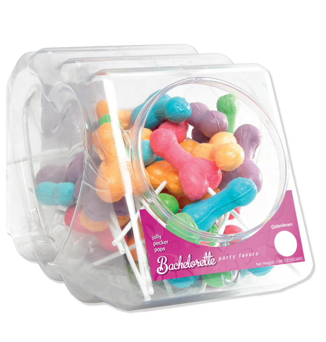 Bachelorette Party Favors - Jolly Pecker Pops - 50 Piece Fishbowl PD7429-99D