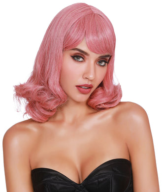 Shoulder Length Wig With Bangs and Bottom Curl DG-11686MLT