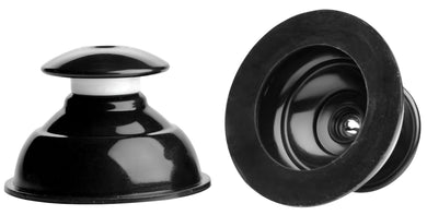 Master Series - Plungers Extreme Suction Nipple  Suckers - Black MS-AF413