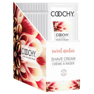 Coochy Shave Cream - Sweet Nectar - 15 ml Foils 24 Count Display COO1006-99D