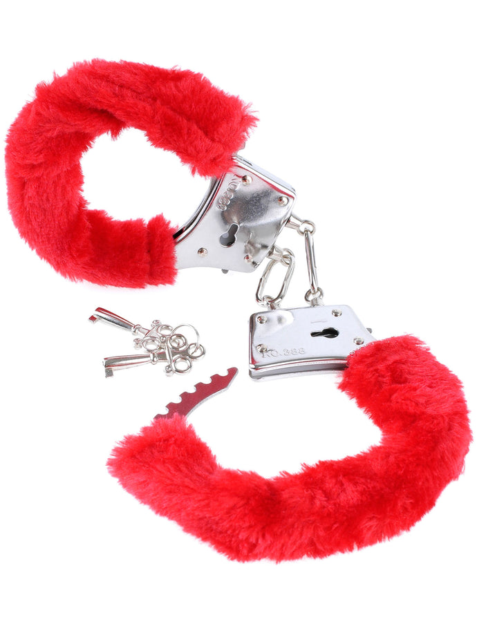 Fetish Fantasy Series Beginner's Furry Cuffs - Red PD3800-15