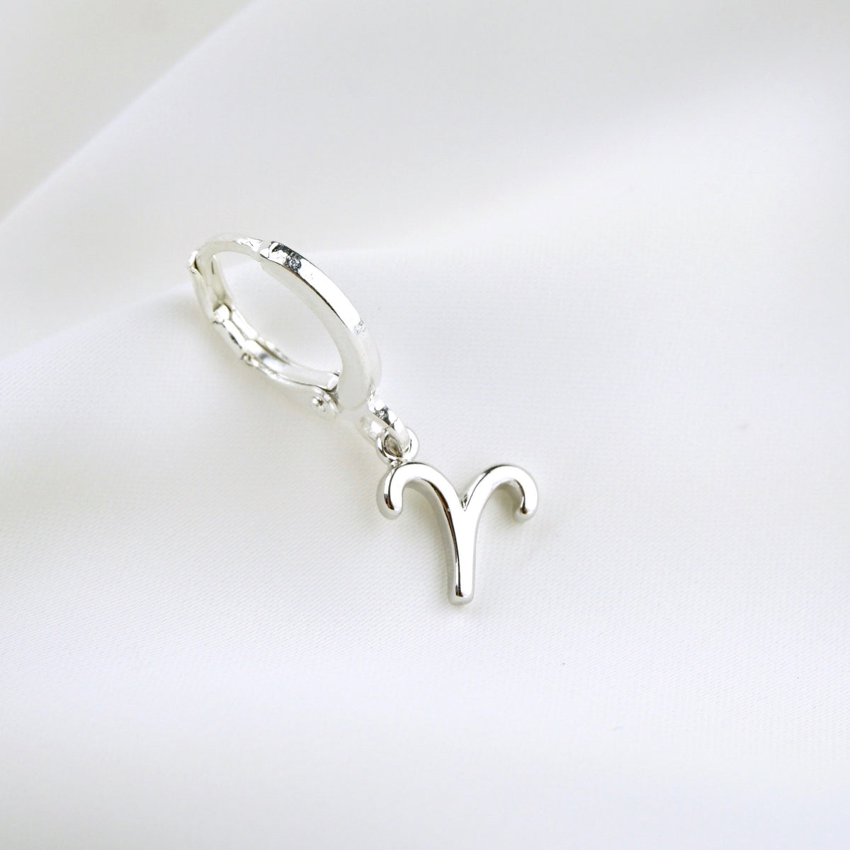 Silver Star Sign Earring