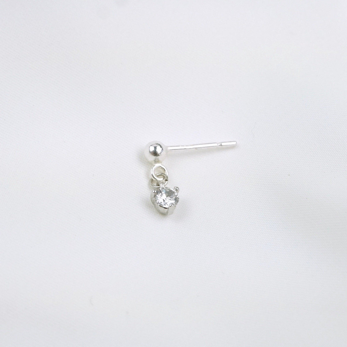 Silver Small Zirconia Earpin