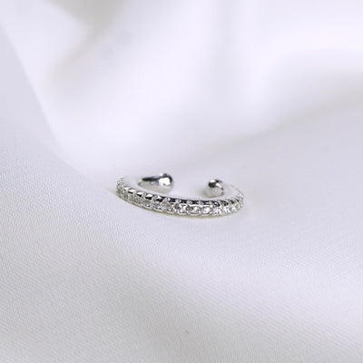 Sterling Silver Diamond Ear Cuff