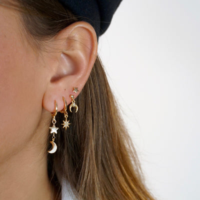 Sparkling North Star Earring