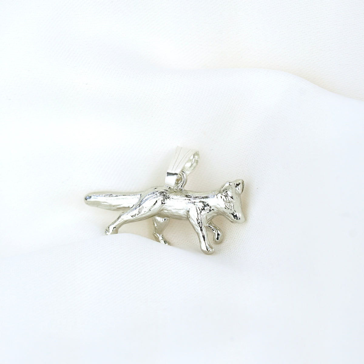 Silver Little Fox Necklace