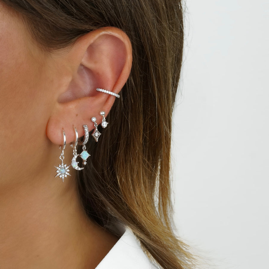 Sterling Silver Small Zirconia Earpin