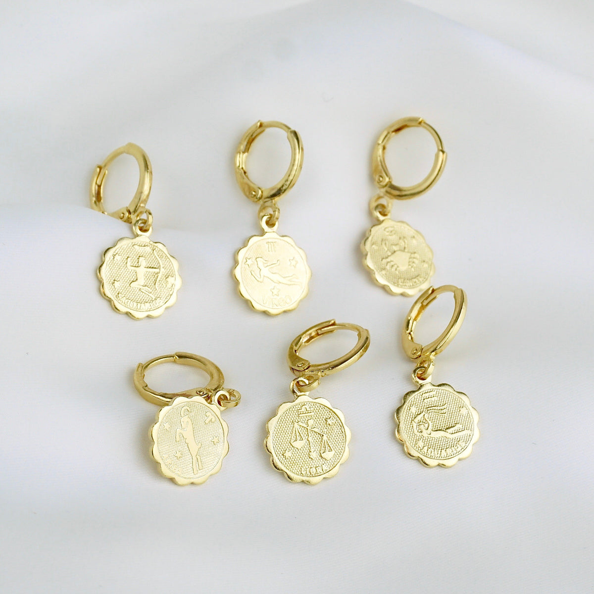 Star Sign Coin Earring