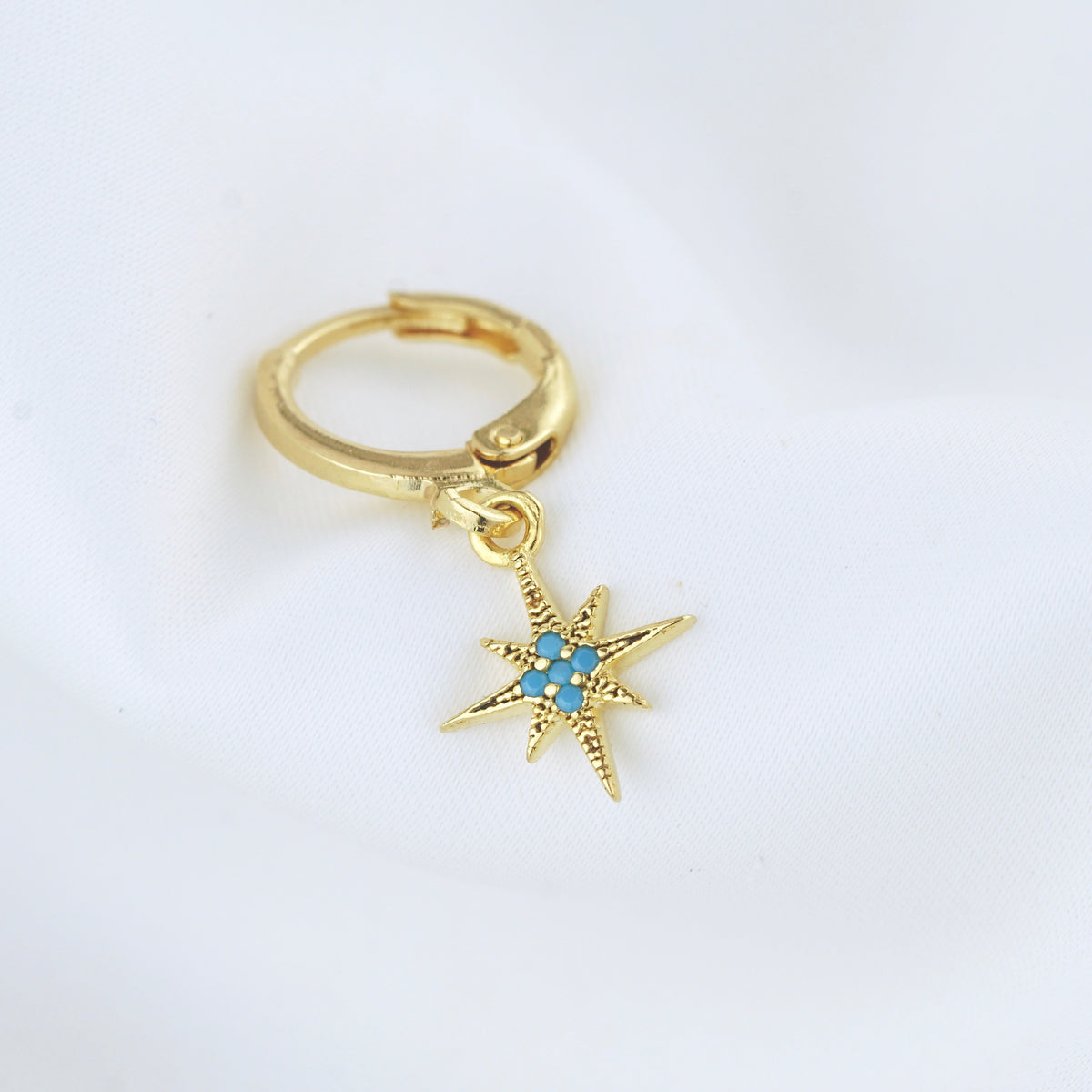 Turquoise North Star Earring