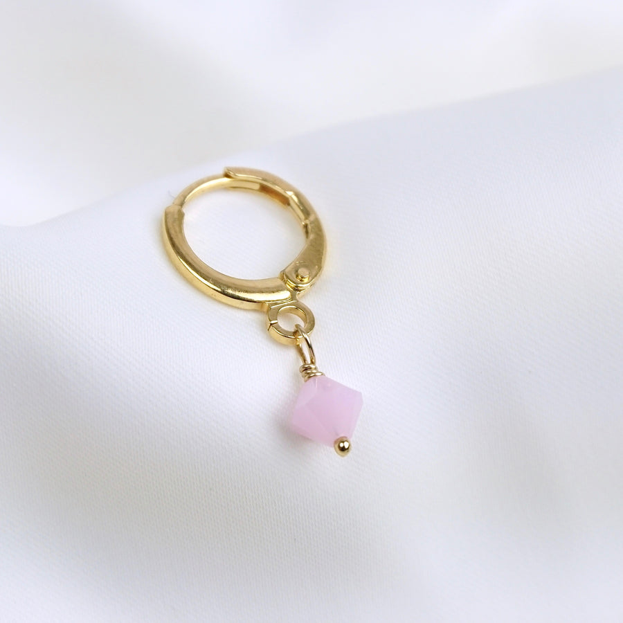 Big Powder Pink Swarovski Earring