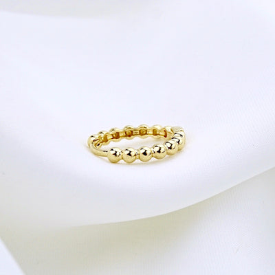 Round Golden Hoop Earring