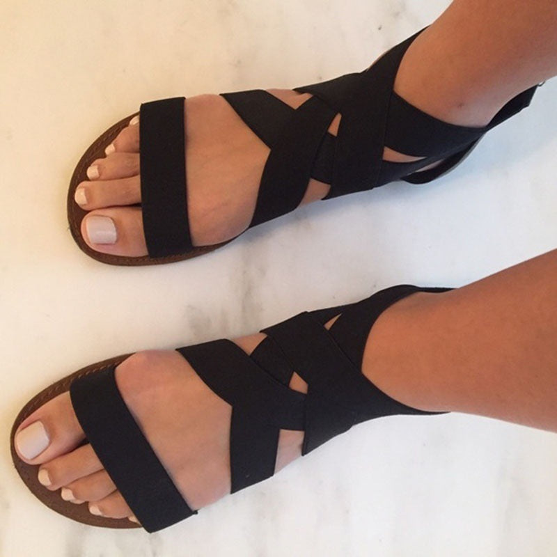 Double X Cross Toes Sandals