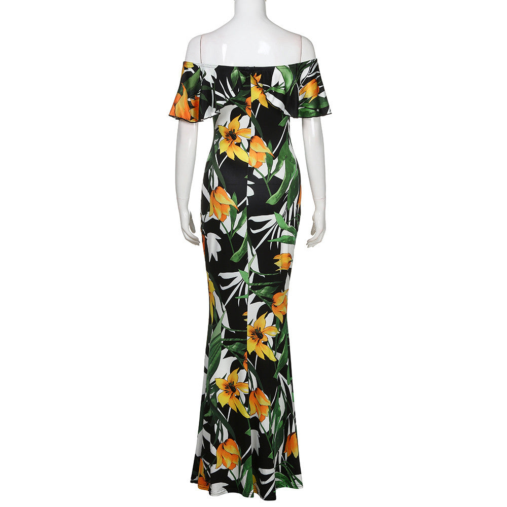Floral Summer Dress Long