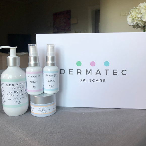Ultimate Skincare Solution - LED, Cleanser, Exfoliator, Vitamin C Serum and Daily Face Oil