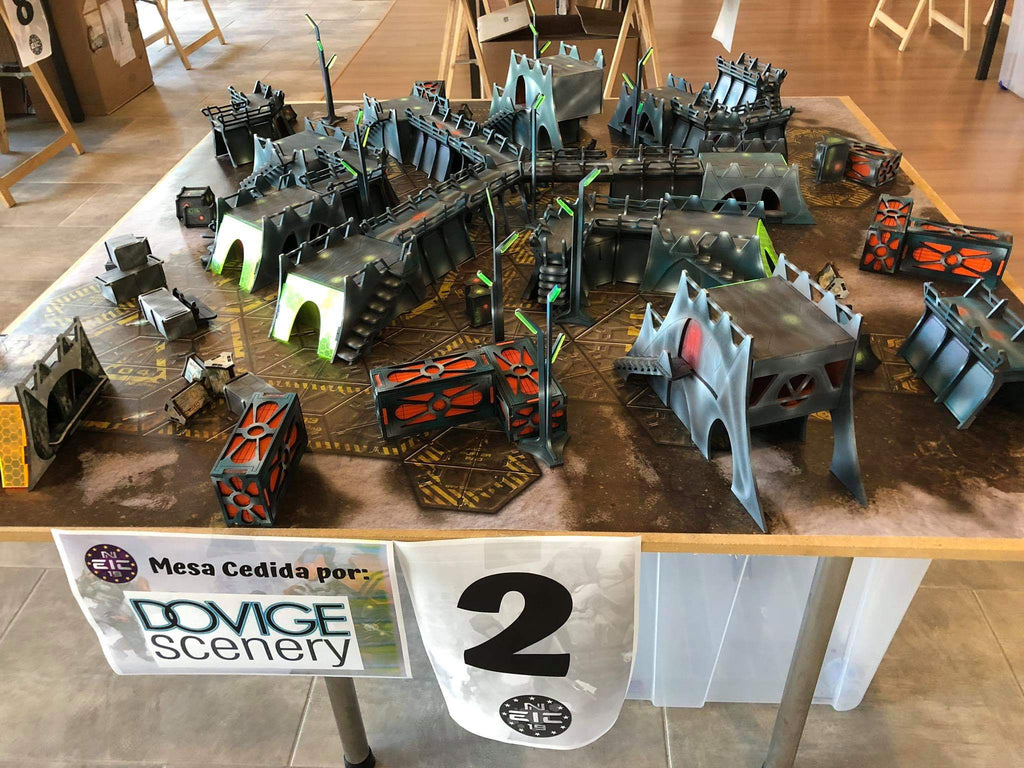 Tournament table painted